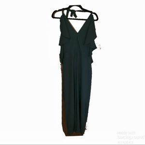 Romeo & Juliet Couture Dark Green Ruffle Jumpsuit
